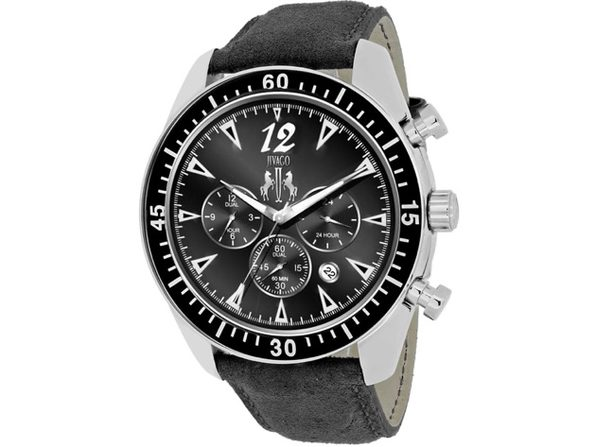 Jivago Men's Timeless Black Dial Watch - JV4511