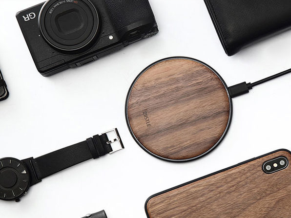 Takieso Walnut Qi Charger