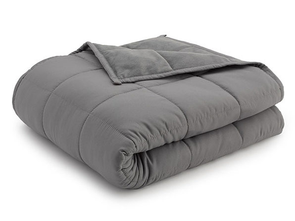 Weighted Anti-Anxiety Blanket (Grey/Grey)