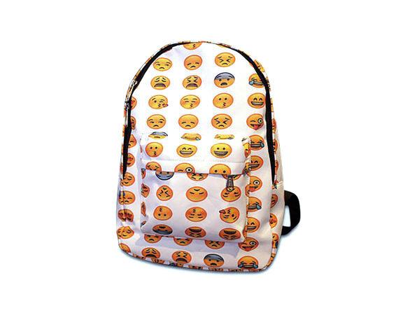 Emoji Backpack (White)