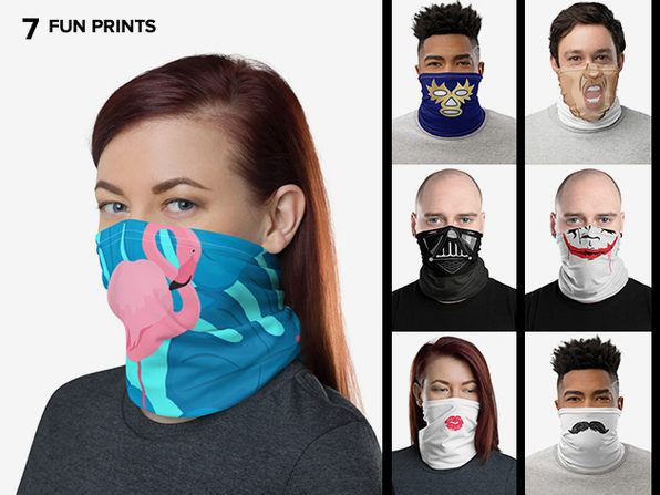Reusable Fun Face Cover / Neck Gaiter