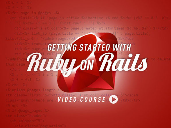 Getting Started With Ruby On Rails - Product Image