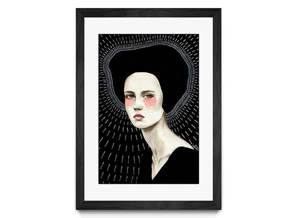 "Framed Print Black ""Freda"" by Sofia Bonati"