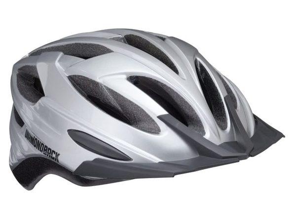 Diamondback Recoil Mountain Bike Helmet Fits Heads 52-56cm,Medium - Gloss Silver (New)