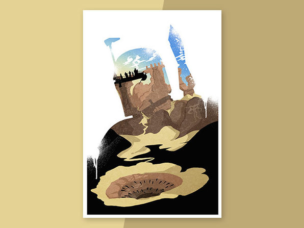 Bounty Hunter Silhouette Poster