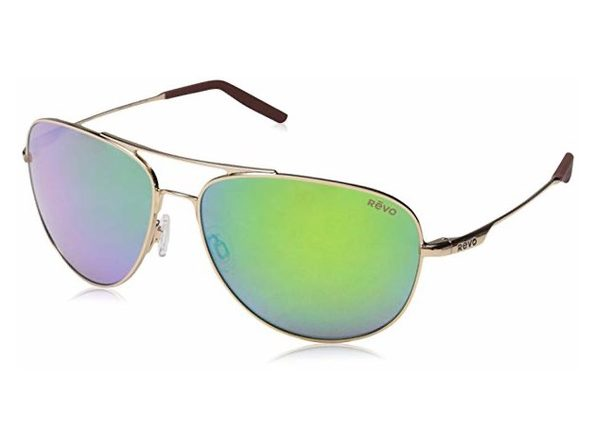 Revo Windspeed RE 3087 04 GN Polarized Sunglasses Gold with Green Water Lens - Gold