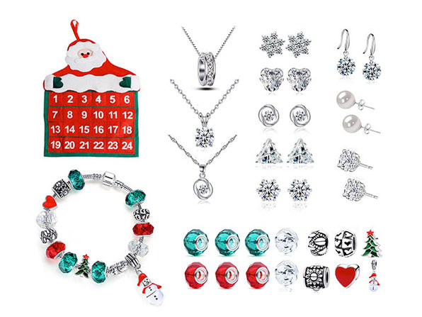 25 Piece Jewelry Advent Calendar with Swarovski Crystals - Product Image