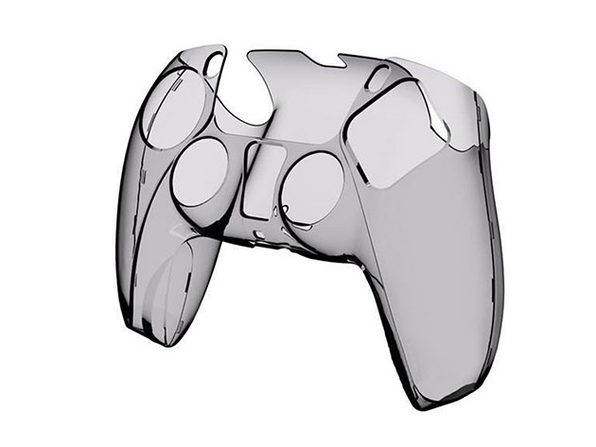 PS5 Clear Controller Case Black - Product Image