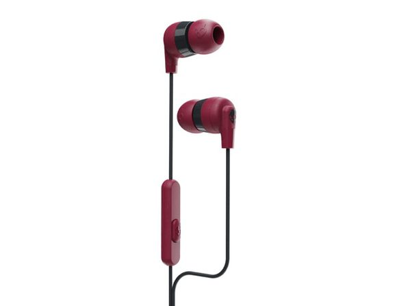 Skullcandy Ink'd®+ Earbuds with Microphone (Deep Red)