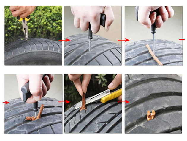 Never get stranded on the side of the road ever again with this Car Tire Plug Set on sale now