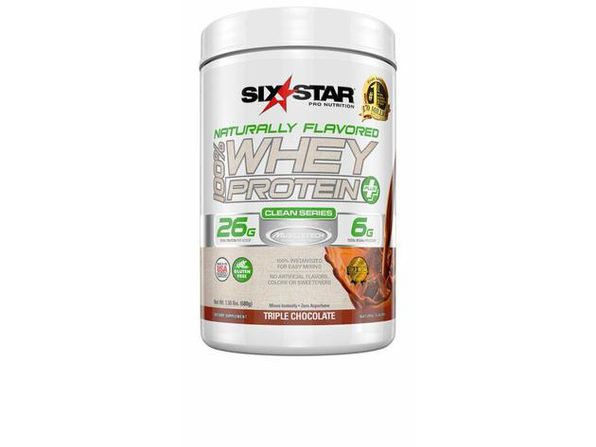 Six Star Naturally Flavored 100 Percent Whey Protein Plus Chocolate For All Athletes, 1.5 Pounds