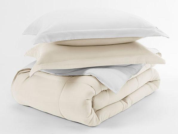 Home Collection Premium Down Alternative Reversible Comforter Set (Queen/White)
