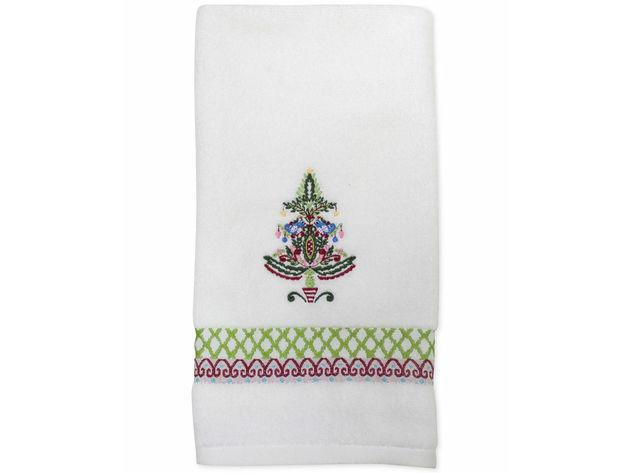Sfd Christmas 2020 Dena Peppermint Twist Christmas Tree Embroidered Fingertip Towel