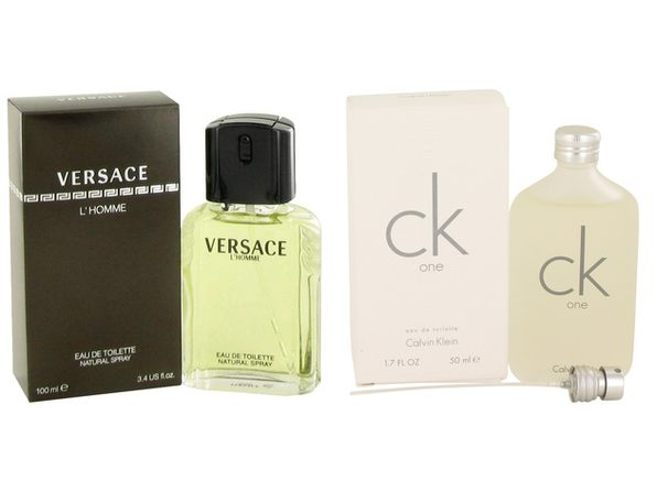Gift set  VERSACE L'HOMME by Versace EDT Spray 3.4 oz And  CK ONE EDT Pour/Spray (Unisex) 1.7 oz