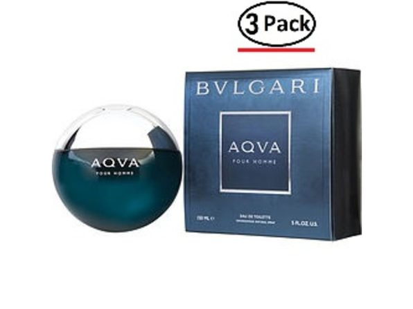 Bvlgari Aqua By Bvlgari Edt Spray 5 Oz For Men (Package Of 3) - Product Image