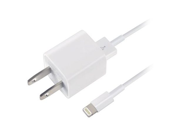 iPhone Travel 5W Wall Charger with Cable for iPhone X, Xs Max, XR, 8, 7, 6, 5