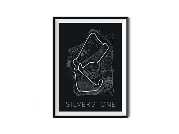 The Blueprint of Velocity Silverstone Circuit Poster