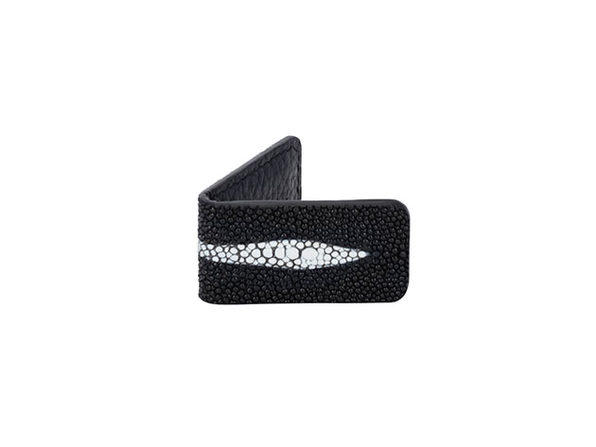 Andre Giroud Exotic Stingray Mini Money Clip - Black - Product Image