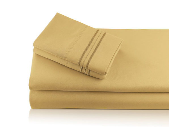 Bali Bamboo Luxury 6-Piece  Gold Sheet Set (King)