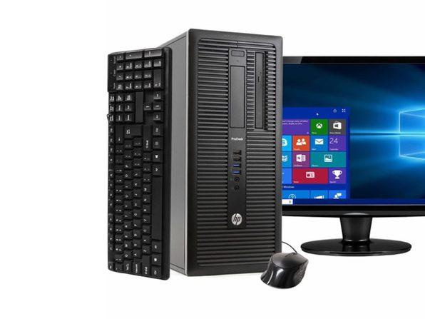 """HP ProDesk 600G1 Tower PC, 3.2GHz Intel i5 Quad Core Gen 4, 8GB RAM, 2TB SATA HD, Windows 10 Professional 64 bit, 22"""" Screen (Renewed)"""
