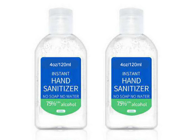 4oz Quick-Dry Hand Sanitizer with 75% Alcohol: 2-Pack