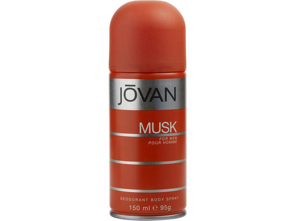 JOVAN MUSK by Jovan DEODORANT BODY SPRAY 5 OZ (Package of 4) - Product Image