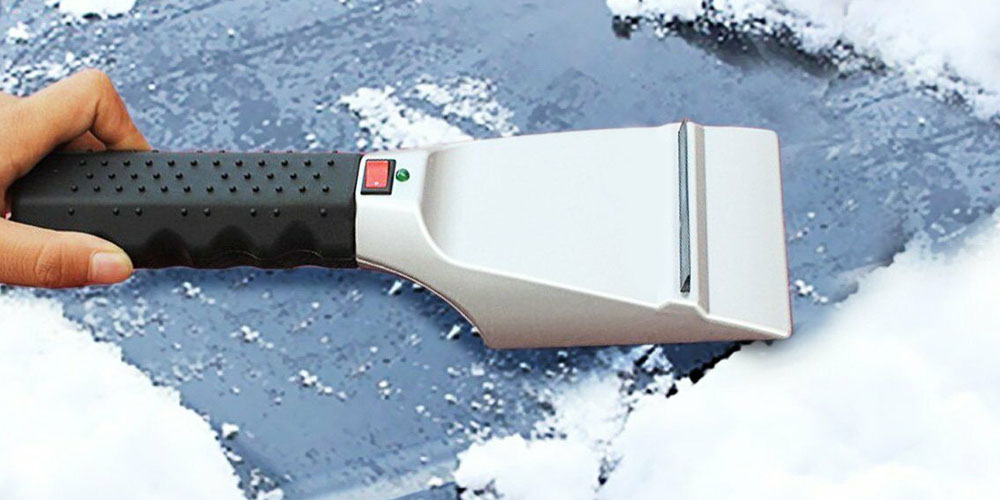 Portable Heated Ice Scraper, on sale for $23.99 (40% off)