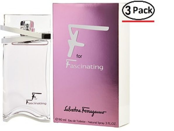 F FOR FASCINATING by Salvatore Ferragamo EDT SPRAY 3 OZ (Package Of 3) - Product Image