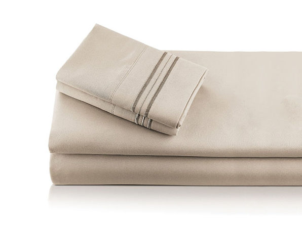 Bali Bamboo Luxury 6-piece Sheet Set Beige Queen - Product Image