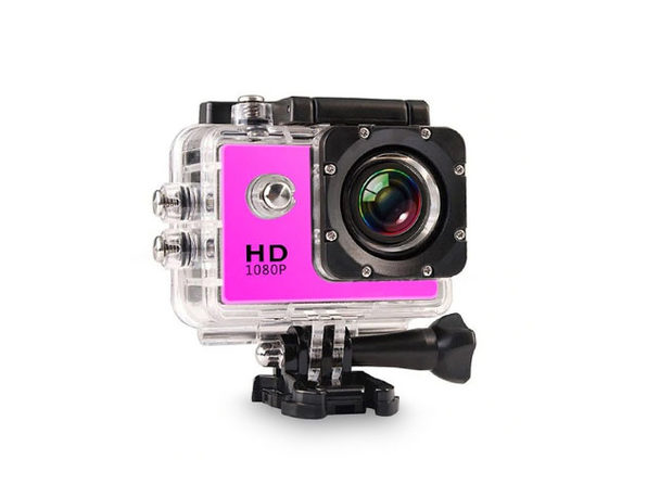 Electronic Avenue HD Waterproof Action Camera & Accessory Pack (Pink)