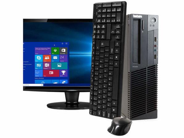 "Lenovo ThinkCentre M92 Desktop PC, 3.2GHz Intel i5 Quad Core Gen 3, 8GB RAM, 240GB SSD, Windows 10 Home 64 bit, 22"" Screen (Renewed)"