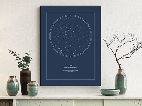Strellas Personalized Star Maps: Ready-to-Print File