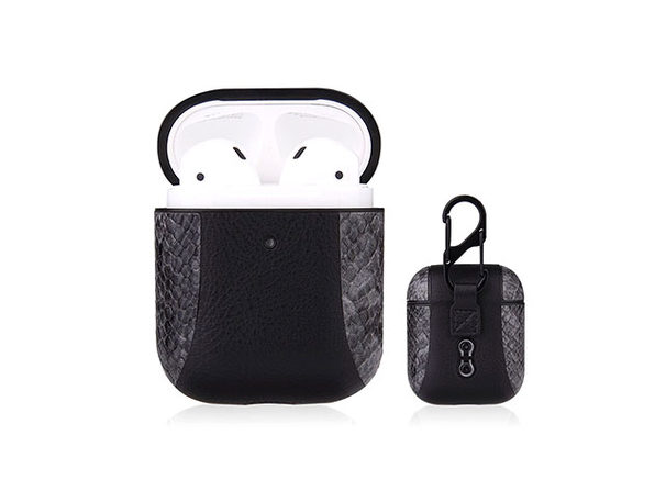 iPM PU Leather Protective Case For Airpods - Gray - Product Image