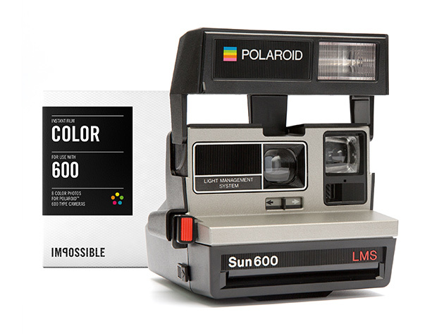 polaroid 600 camera color film pack stacksocial. Black Bedroom Furniture Sets. Home Design Ideas