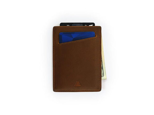 The Duke: Slim Leather Wallet (Saddle Brown)