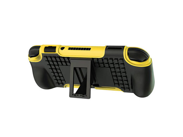 2-in-1 Protective Case with Stand for Nintendo Switch Lite (Yellow)
