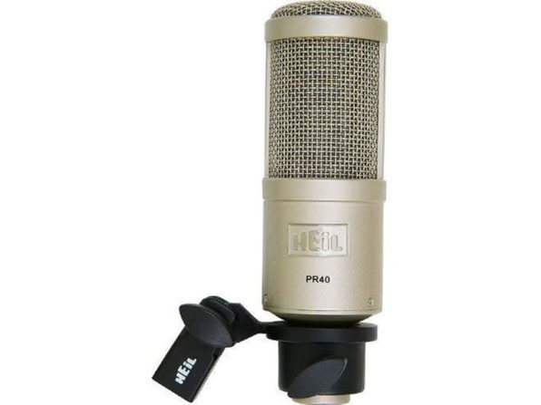 Heil PR-40 Dynamic Studio Recording Microphone 28Hz- 18kHz, Steel body with Zinc (Like New, Damaged Retail Box)