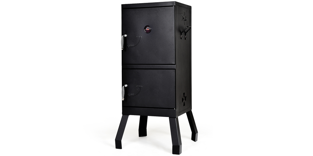 Costway Vertical Charcoal Smoker BBQ Barbecue Grill w/ Temperature Gauge Outdoor Black – Black, on sale for $159.99 (27% off)