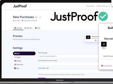 JustProof Social Proof Notifier Startup Plan width=500