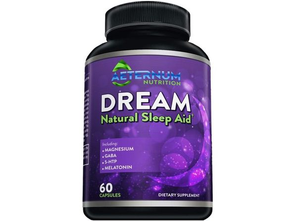 Aeternum Nutrition Dream Natural Sleep Aid - Supports Relaxation, Deep Sleep, and Refreshed Mornings - Includes Magnesium, GABA, 5-HTP and Melatonin, 60 Capsules Dietary Supplement