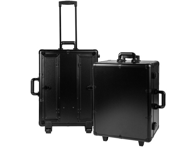SHANY Studio ToGo Wheeled Trolley Makeup Case & Organizer with Light - BLACK for $399 5