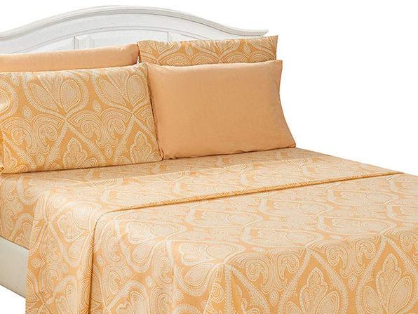 Paisley Sheet 6 Pcs Taupe - Full - Product Image