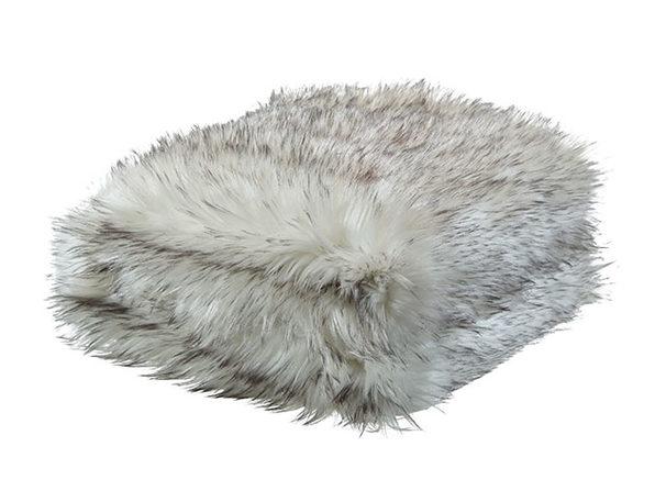 Cozy Tyme Odette Faux Wolf Fur Throw