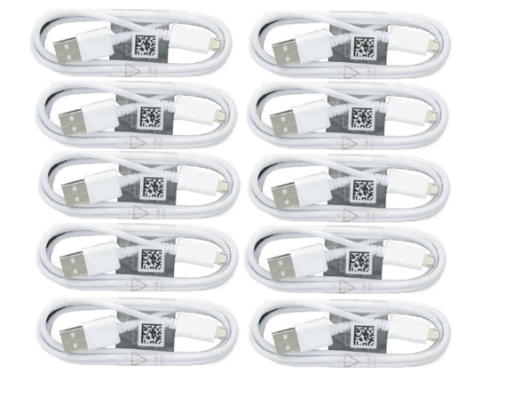 Samsung Charge Sync Micro USB Cable for Galaxy S6/S7/Edge - 10 Pack