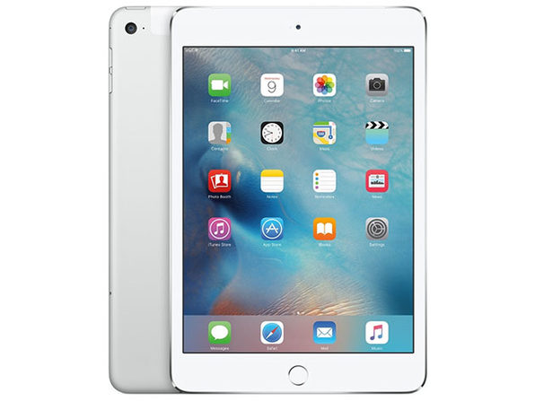 Apple iPad Mini 4, 128GB - Silver (Wi-Fi + 4G LTE)