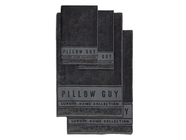 Luxe Pillow Guy Bath & Hand Towel Bundle (Charcoal)