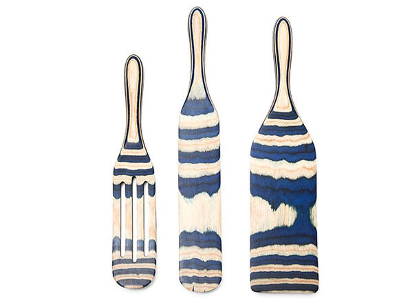 Mad Hungry 3-Pc Pakka Wood Spurtle Set (Blue)