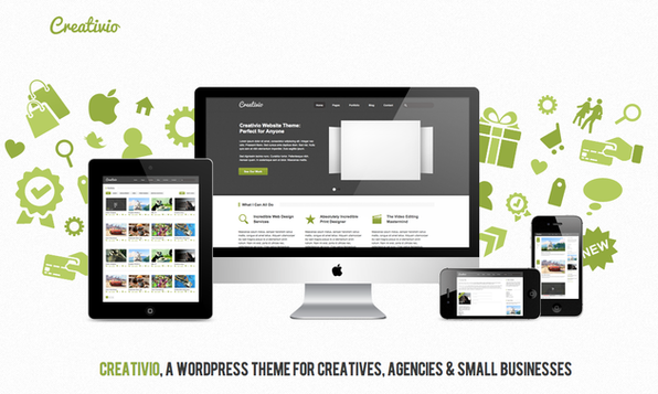 The Creative WordPress Theme + 40 Other Top Designer Assets - Product Image