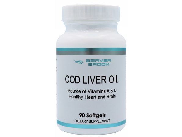Beaver Brook Cod Liver Oil 1,200mg Dietary Supplement - 90 Softgels
