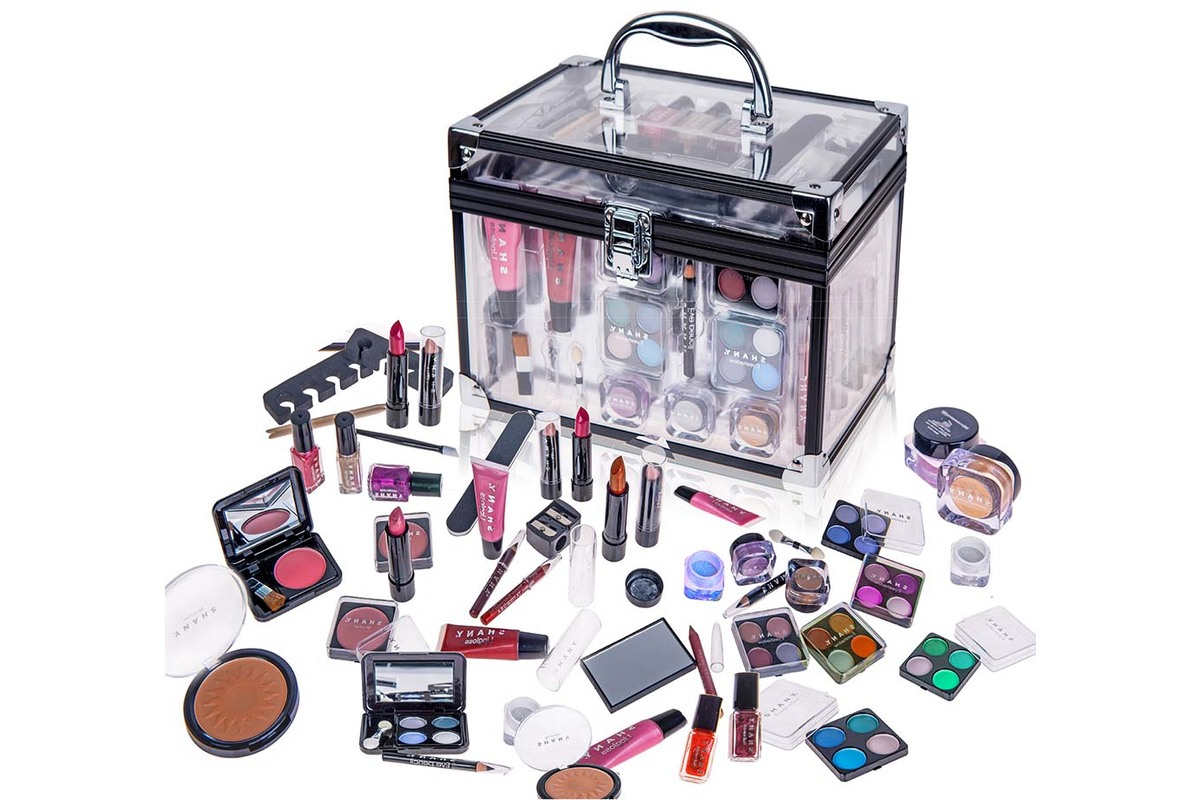 SHANY Carry All Trunk Makeup Set (Eye shadow palette/Blushes/Powder/Nail Polish and more), currently $49.95
